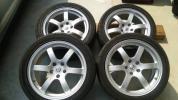 日産 Z33 純正 オプション レイズ ホイール アドバン ネオバ 225 245 45 18 8JJ 30 8.5JJ 33 1台分 4本 セット