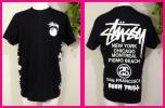 STUSSYステューシー 新品!半袖TシャツML サイドにまで5連プリントがカッコいい! 前8ボール 後は大ロゴ&英字プリントが素敵です T3552