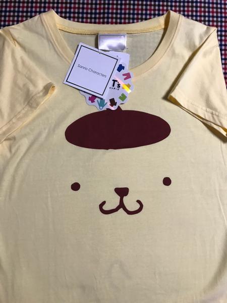 新品☆タグ付き☆ ポムポムプリン Tシャツ レディース Lサイズ 最新 しまむら サンリオ キャラクター スウェッターズ グッズの画像