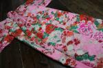 ★てまり★1円 赤ちゃんのピンクに花模様アンティーク着物 古布 大正ロマン