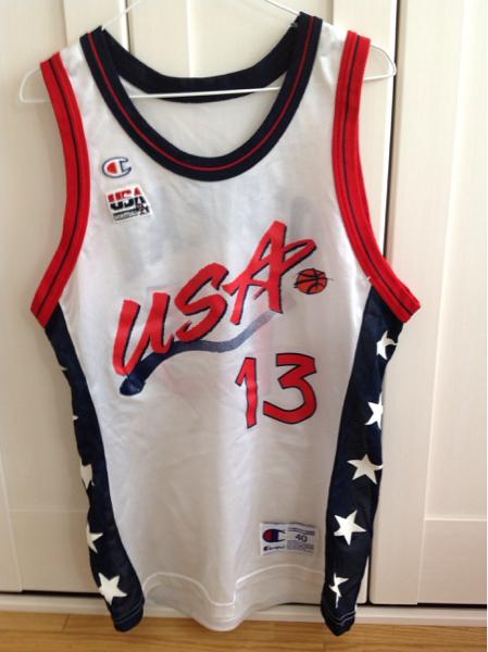 USA アメリカ代表 NBA ドリームチーム オニール チャンピオン 40 グッズの画像