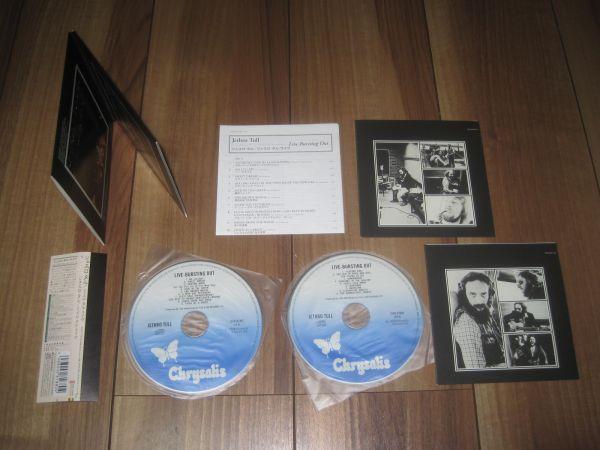 ジェスロタル ライヴ JETHRO TULL LIVE-BURSTING OUT 紙ジャケ 紙ジャケット CD 2枚組 帯付き イアンアンダーソン IAN ANDERSON_取り出すと 帯 盤 解説書 など