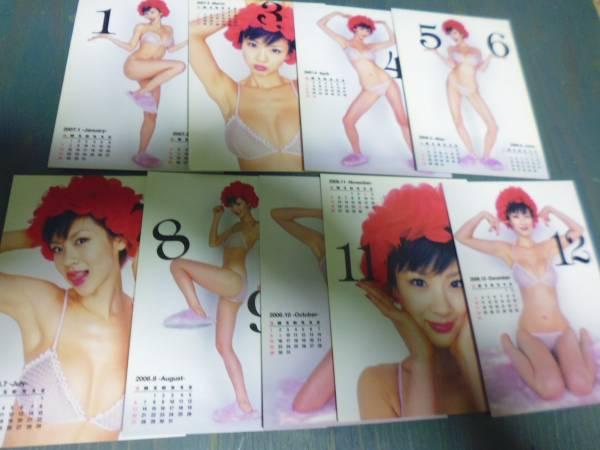 2006 ボム ほしのあき カレンダーカード9枚 グッズの画像
