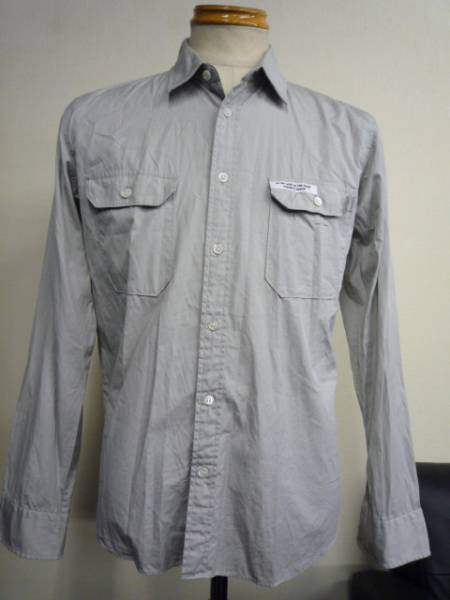 ◆ Color band size up long sleeve shirt size M Cotton ◆