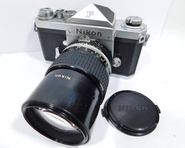 ニコン Nikon F フィルムカメラ 一眼レフ NIKKOR 135mm 1:2.8 単焦点 マニュアルフォーカス