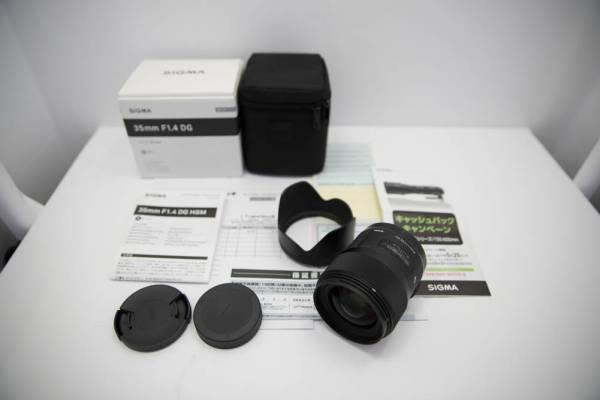 シグマ 35mm F1.4 DG HSM Art キヤノン用 2017年3月15日新品購入