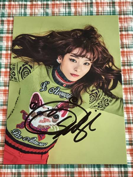 スルギ(Red Velvet)@韓国4thミニアルバム「Rookie」公式グッズ(ポストカード)@直筆サイン①