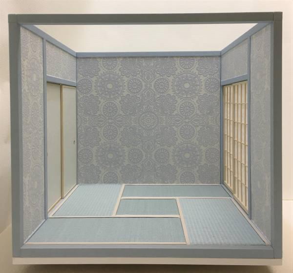 ドールハウス 1/6 畳部屋 組立式 水色キュートファンシー日本間 和室 和風 ブライス momoko リカちゃんバービーのミニチュア人形装飾撮影等_画像2