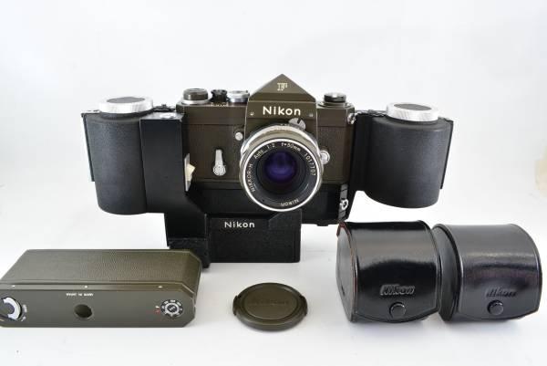 ★至極の逸品★NIKON ニコン F アイレベル オリーブ +モードラ F36 + 長尺 F250 + 50mm F2 レンズセット