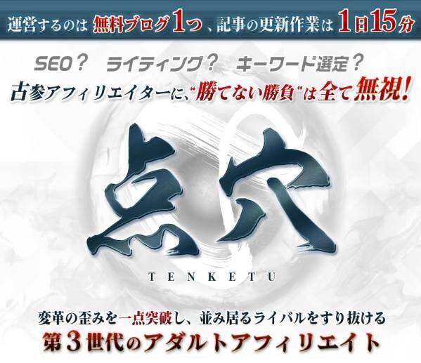 【既決●早期終了】第3世代のアダルトアフィリエイト 点穴(TENKETU)_画像1