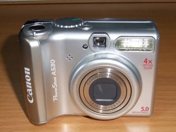 Canon PowerShot A530 500万画素 光学4倍ズーム 単3電池仕様
