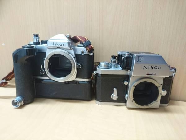 Nikon FE ニコン F カメラ2点 レンズ2点セット_画像2