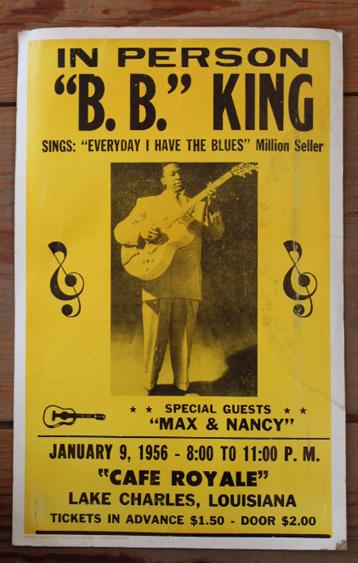 1956年【B.B.KING】ライブ ポスター ルイジアナ