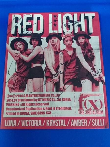 F(x)直筆サインCD RED LIGHT エフエックス ライブグッズの画像