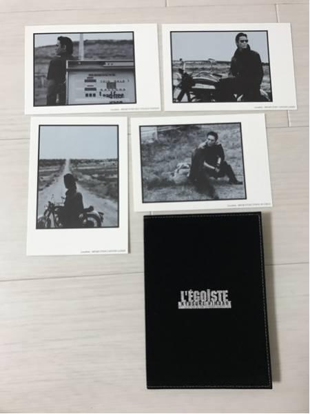 希少☆美品 氷室京介 グッズ ポストカード4枚とケースのセット L'EGOISTE