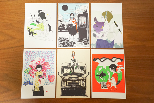 中村祐介 ポストカード 6枚セット 初期作品含む アジカン 夜は短し歩けよ乙女 ライブグッズの画像