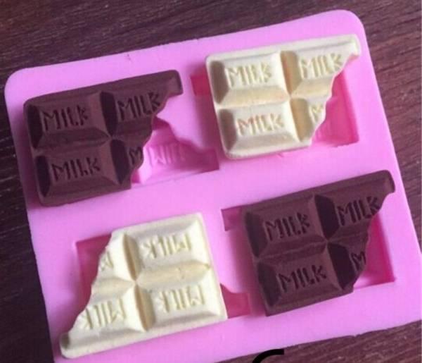 ■ 送料無料  欠け チョコレート モールド  ///  シリコンモールド ミルク お菓子 型 枠 耐熱 シリコン モールド s2_画像1