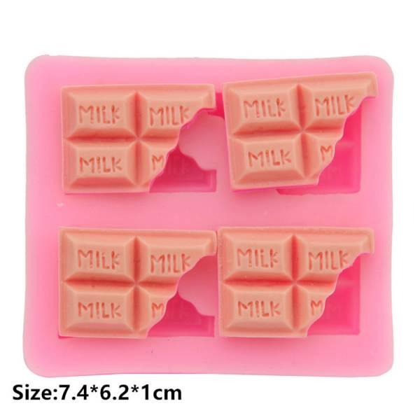 ■ 送料無料  欠け チョコレート モールド  ///  シリコンモールド ミルク お菓子 型 枠 耐熱 シリコン モールド s2_画像2