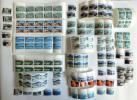 古い切手☆国定公園シリーズ 17種類未使用128片 額面 ¥1920 使用済 5片