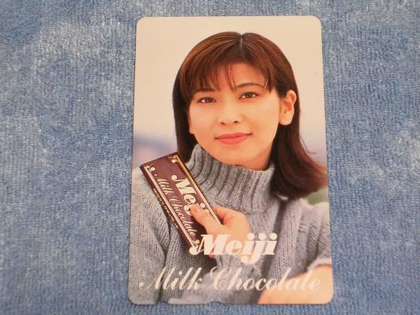 明治Milk Chocolate 森高千里テレホンカード(未使用・美品)