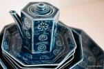 【猫pm 】和 モダン 陶器 7点セット 新品 未使用 8角 皿 小皿 中皿 大皿 豆皿 醤油さし