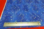 即決送料86円〜 銀河系宇宙?柄 青 ブルー カット生地 布