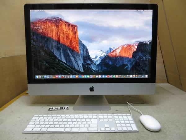 iMac A1312 Mid2011◆27型◆高速 i7- 3.4GHz / 16GB / 2000GB◆ダブル Mac OS X & Windows7★Mac Office版, Win Office版 付き◆中古美品