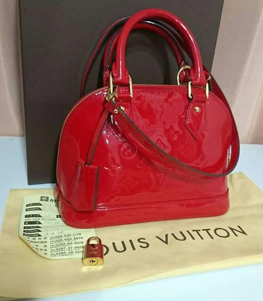 ルイヴィトン ヴェルニ アルマBB レッド 赤 販売証明書付き 2014年製造 美品