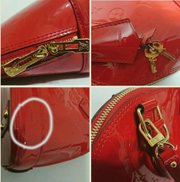 ルイヴィトン ヴェルニ アルマBB レッド 赤 販売証明書付き 2014年製造 美品_画像3