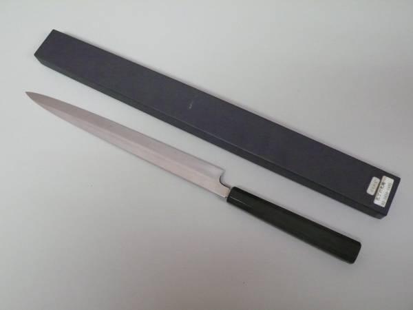 未使用 ふく引く 柳刃 包丁 【 包丁の丸越 】 全長46cm 八角