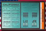 ★116★ 旅行タグ LAX JFK   ステンシルアート(ステンシルシート)