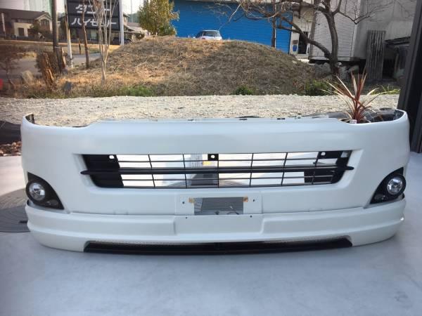 ☆値下げ☆200系 ハイエース 3型 ファブレスフェイスチェンジハーフスポイラーset 8000k HID フォグ付LED片側点灯不可 色: ホワイト