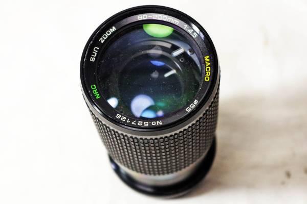 ジャンク☆SUN ZOOM 80-200mm f4.5 MACRO Nikon AIマウント☆C-15