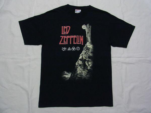 ☆美品☆ Led Zeppelin レッド・ツェッペリン IV ZOSO Tシャツ☆USA古着 80s 90s ハード ロック バンド ジミー・ペイジ ロバート・プラント