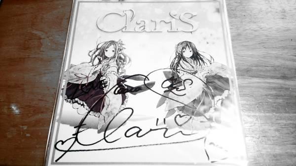 ClariS_1st_Tour_LIVE_CD物販特典(2016_03_19-20)本人直筆サイン色紙(現地直入手)クララ_カレン(クララちゃん一押し衣装)