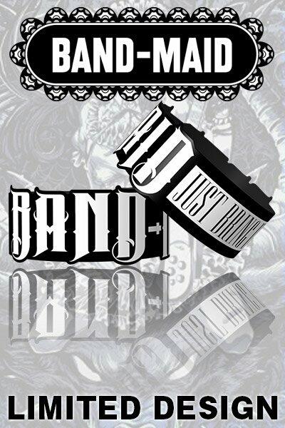白 White☆BAND-MAID バンドメイド☆ロゴ ラバーバンド☆Just Bring It☆Limited☆新作☆未使用☆即決