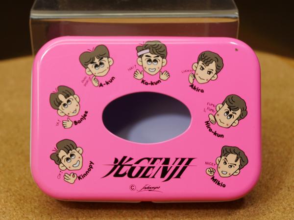 当時物 光GENJI ★缶ティッシュケース