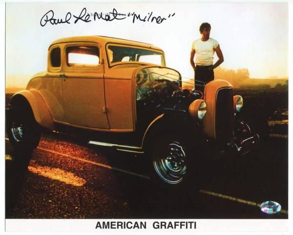 1973年 映画 『American Graffitiアメリカン・グラフィティ』 Paul Le Mat ポール・ル・マット 直筆サイン フォト