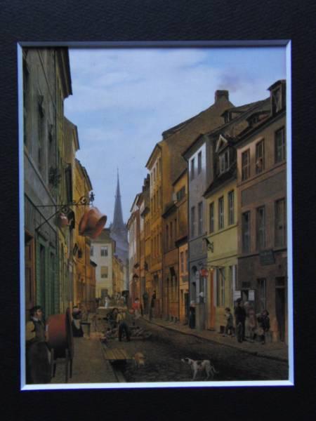 エドゥアルト・ゲルトナー、パロヒアール通り、19世紀外国巨匠作家、新品高級額装付、合わせ厚手マット付