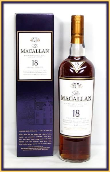 1円~ ☆ 古酒 ☆ MACALLAN マッカラン 18年 1997 スコッチウイスキー 700ml / 箱付