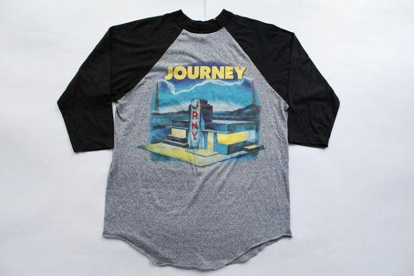 80's USA製ジャーニーJOURNEYラグランTシャツ(L)ロックTバンドT七分灰アメリカ製80年代