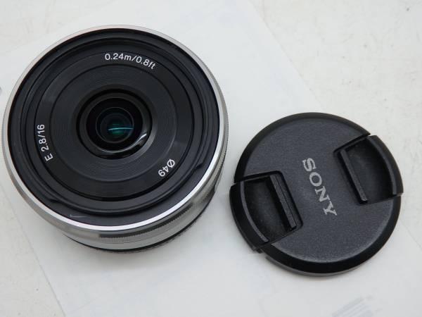 極美品 SONY Eマウントレンズ  16mm f2.8 パンケーキレンズ