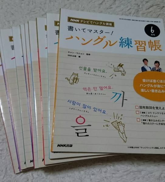 NHKテレビでハングル講座 書いてマスター! ハングル練習帳 2012.6~2013.3 計10冊