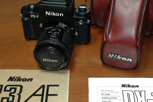★★NikonF3AF AF Nikkor 80mm 1:2.8 純正ケース及び取説 極美品★★