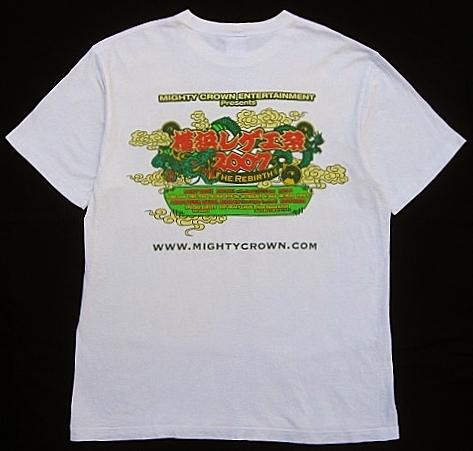 横浜レゲエ祭 2007 Teeシャツ L MIGHTY CROWN