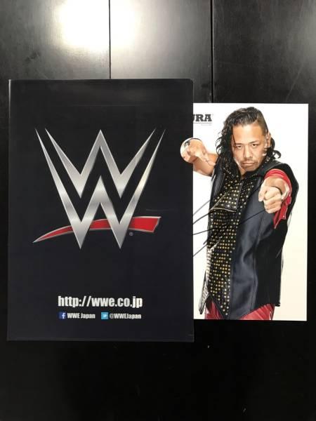 チャリティ 【WWE公式】WWEスーパースター 中邑真輔サイン入りフォトマット_画像2