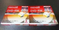 即決◆マクセル DVD-RW 120分◆繰り返し録画用◆10枚◆2倍速◆送164可①
