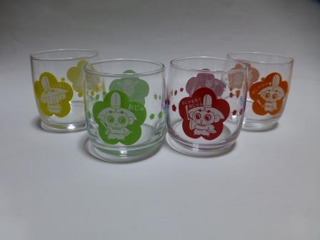 おじゃる丸 ミニグラス4個セット アサヒ飲料 非売品 グッズの画像
