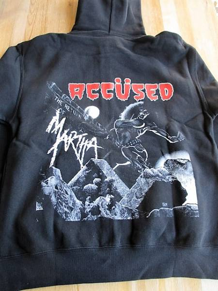 ACCUSED スウェット ジップパーカー The Return Of Martha Splatterhead 黒M / d.r.i. attitude adjustment cryptic slaughter s.o.d.