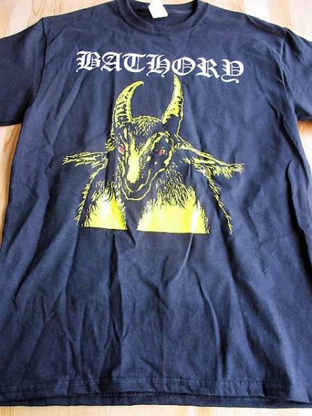 BATHORY Tシャツ yellow goat 黒M / slayer mayhem morbid venom death